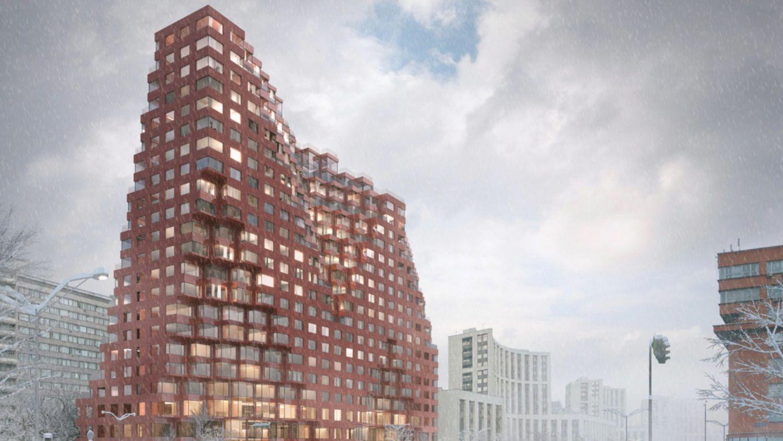 """奇特的""""战利品建筑""""将改变莫斯科阴郁的街景"""