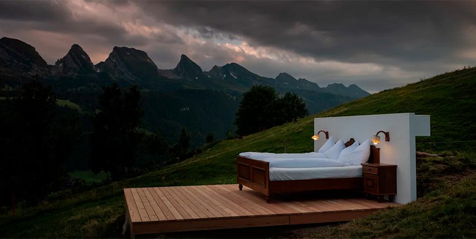 没有墙和屋顶:瑞士建了一个0星酒店
