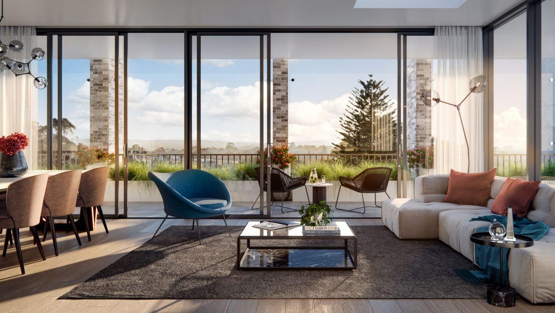 查茨伍德玫瑰 新的悉尼公寓旨在培养宁静的氛围