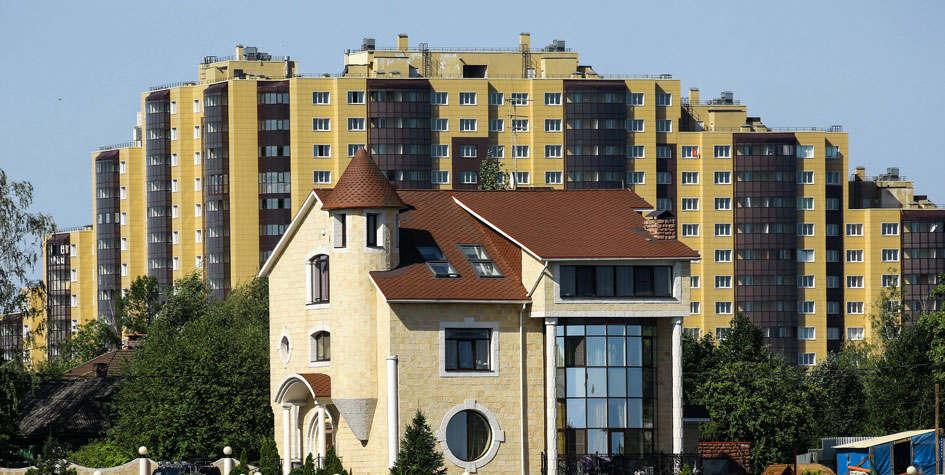 在莫斯科 大多数人都买了一个主要的房子