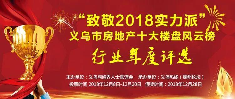 2018年度义乌房地产十大楼盘风云榜评选正式启动