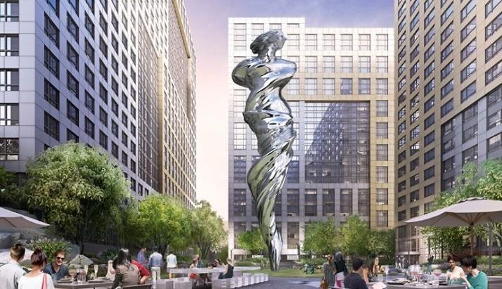旧金山的广场将设有一个92英尺的不锈钢雕像