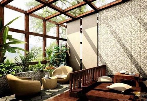 壮观的日光浴室和阳光房让光