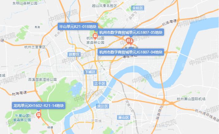 杭州市7宗住宅用地出让 总出让面积186120㎡