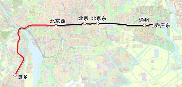 北京市郊铁路城市副中心线西延和通密线同时开通运营