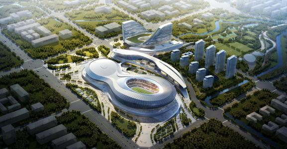 西安国际足球中心将融合公共餐饮和娱乐设施