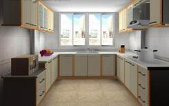 厨房U型橱柜布局的好处:橱柜收纳多 功能区分明
